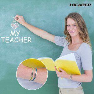 Hicarer Teacher Gift Bracelet Blessing Card Jewelry Teacher's Day Gift Navy